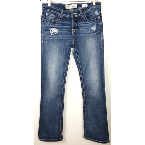 BKE Payton Bootcut Distressed Jeans 27